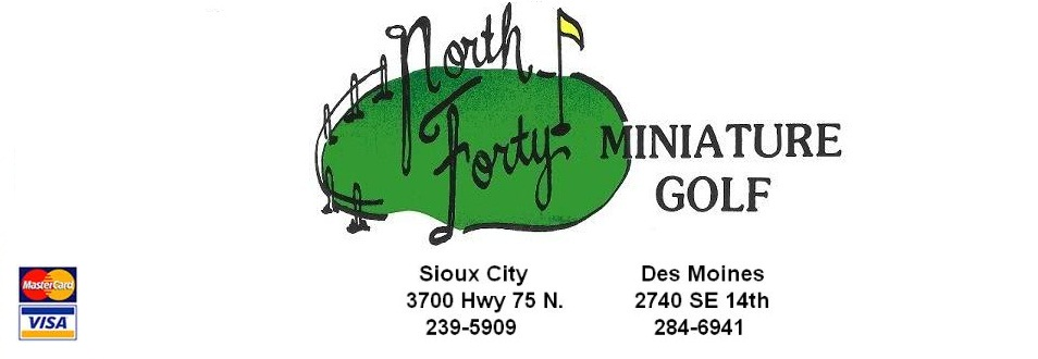 North Forty Miniature Golf - The Best Mini Golf Course in Des Moines and Sioux City!
